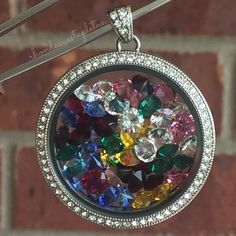 Origami Owl. Legacy locket filled with 50 crystals. www.CharmingLocketsByAline.OrigamiOwl.com