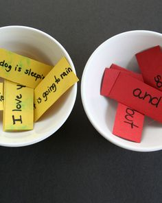 Writing Language Skill- Students are not physically writing but they are creating sentences with the different compound sentence components. Activities: Play Sentence Scramble For teaching simple to compound sentences Grammar Activities, Teaching Grammar, Teaching Language Arts, Language Activities, Teaching Writing, Student Teaching, Writing Activities, Speech And Language, Teaching English