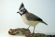Tufted Titmouse nedle felted bird by Flightofheart on Etsy
