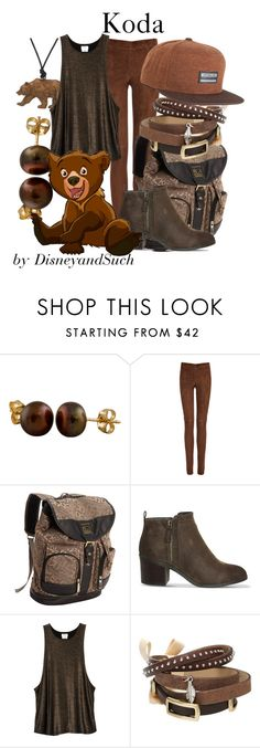"""""""Koda"""" by disneyandsuch ❤ liked on Polyvore featuring Splendid Pearls, Joseph, Kenneth Cole Reaction, Office, RVCA, TOKYObay, Billabong, disney, disneybound and brotherbear"""