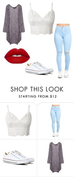 """How To Wear Summer Outfits"" by aislinnmcaloon on Polyvore featuring Converse and Lime Crime"