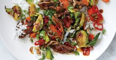 Brussels Sprout and Steak Stir Fry