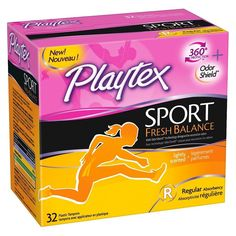 Playtex Sport Fresh Balance Regular Absorbency Tampons - 32 Count