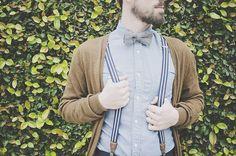 Suspenders and Cardigans for Groomsmen