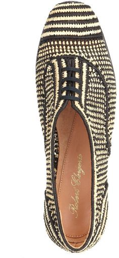 Robert Clergerie Multi Raffia Latik Shoes in Multicolor (Multi) | Lyst