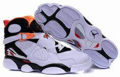 Air Jordan 13 Fusion-White/Black/Red/Orangered Sneakers