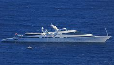 Spotted off the French Riviera, Yas is currently the eighth largest yacht in the world… Speed Boats, Power Boats, Whitewater Kayaking, Canoe Trip, Yacht Boat, Yacht Design, Submarines, Luxury Yachts, Wooden Boats