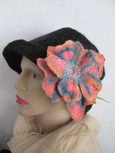 Bold flower,Art to wear,Large flower brooch, flower brooch, gift for women,pin flower, handfelted,gift idea,wearable art,unique art to wear Wet Felting, Large Flowers, Handmade Flowers, Flower Brooch, Unique Art, Wearable Art, Flower Art, Gifts For Women, Exotic