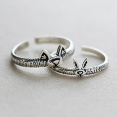 d9396d5337 Promise Rings For Couples, Couple Rings, Open Ring, Party Gifts, Sterling  Silver