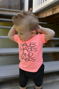 Waves shades and babes boys graphic tee beach please clothes for boys toddler boy shirt beach shirt summer tees stylish kid clothes - Graphic Shirts - Ideas of Graphic Shirts - Real men wear pink! Baby Haircut, Baby Boy Haircuts, Boy Hairstyles, Baby Boys, Toddler Boys, Beach Shirts, Boys Shirts, Baby Boy Fashion, Kids Fashion