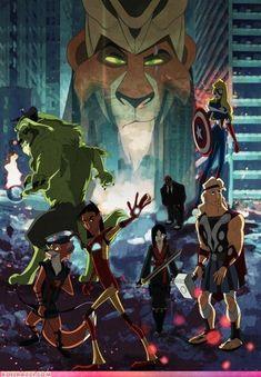 Geek Discover The Avengers as Disney Characters. Or Disney characters as the Avengers I suppose. Disney Marvel, Disney Pixar, Ms Marvel, Walt Disney, Heros Disney, Disney E Dreamworks, Disney Love, Disney Magic, Disney Art