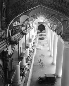 The year 1948: A view of the ornate art and architecture of a building in Chennai India.  Flashback 128 years into photographic history as we bring you images from the NatGeo archives. See more at natgeofound.tumblr.com. @natgeocreative  Photo by Volkmar Wentzel by natgeo