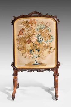 Mid 19th Century Fine Rosewood Fire Screen (England)