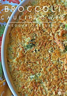 Broccoli Cauliflower Cheddar Casserole
