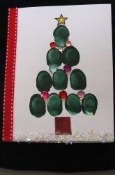 Preschool Christmas Activities: Thumbprint Christmas Tree Cards