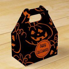 Halloween Pumpkins Jack-O-Lantern Gable Favor Box