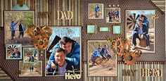 My Dad, My Hero #double #scrapbook #Layout