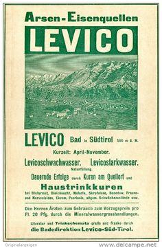 Original-Werbung/ Anzeige 1914 - LEVICO / SÜDTIROL - ca.180 x 100 mm