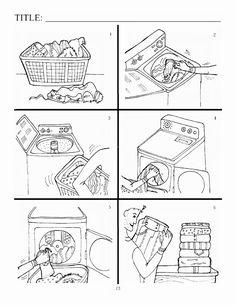 DAF Bildbeschreibung: Wäsche waschen
