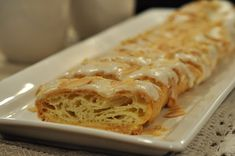 For today's Flashback Friday I'm going back to this Betty Crocker Danish pastry I posted seven years ago. It's a recipe that might takes many of us back to when we first started baking and became one Köstliche Desserts, Delicious Desserts, Dessert Recipes, Amish Recipes, Baking Recipes, Breakfast Bake, Breakfast Recipes, Almond Pastry, Sweet Dough