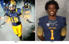 Kent State Golden Flashes unveil new football uniforms for 2013 http://gamedayr.com/gamedayr/photo-new-kent-state-golden-flashes-football-uniforms-2013/