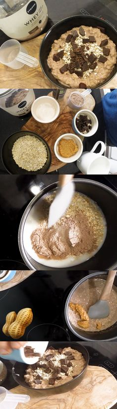 Rise and shine to a protein packed breakfast with this easy and fast recipe with protein per serving. Peanut Butter Protein, Chocolate Peanut Butter, Protein Packed Breakfast, Chocolate Peanuts, Easy, Recipes, Food, Recipies, Essen