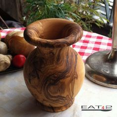 Beautiful handmade mediterraean vase by Premiumolivewood on Etsy, $39.00