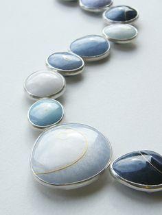 Ruth Ball - enamel necklace