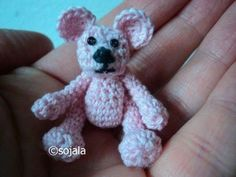 written pattern here http://amigurumitogo.blogspot.ca/2012/04/tiny-crochet-bear-pattern.html PART two here http://www.youtube.com/watch?v=jGrb-_4opq0