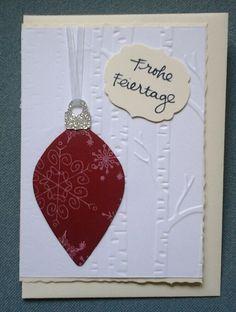 Weihnachtskarte gestaltet mit Stampinup - creativ by maro