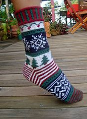 Ravelry: Christmas Holiday Socks pattern by Terry Morris Crochet Socks, Knit Or Crochet, Knitting Socks, Hand Knitting, Knit Socks, Cozy Socks, Christmas Stockings, Christmas Holidays, Christmas Sock