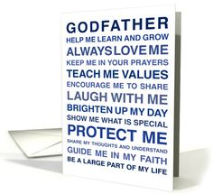 For Godfather - Will you be my Godfather? - From Godchild card