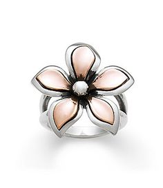James Avery Sterling Silver and Copper Petal Ring