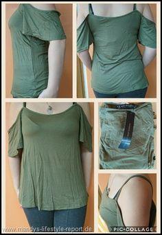 Schulterfreies Kurzarm Shirt von Zanzea - Kreiere Dein Leben-Mandys Lifestyle Report