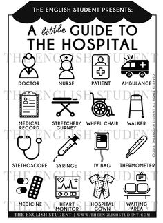 The English Student A little Guide to the Hospital Medical Vocabulary