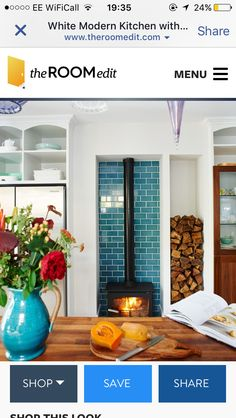 Tiles Metro Tiles, Kitchen Stove, Log Burner, Gas Fireplace, Contemporary, Modern, Gallery Wall, Home And Garden, Rustic