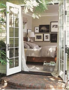 I've always wanted doors in my bedroom that open up into a garden...maybe someday if I ever live in a warmer climate!
