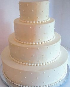 Simple and beautiful cake from Cakes By Donna in Tuscaloosa, AL.  It would be beautiful with fresh flowers