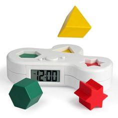 no more snoozing when the 'puzzle alarm clock' goes off since you need to put the puzzle pieces in their slots to turn off the alarm