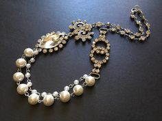 Excited to share this item from my shop: Romantic pearls necklace, rhinestones necklace, crystals necklace, wedding bridal necklace, bridal jewelry, layering necklace #wedding #artdeco #bridesmaidsgift #pearlsnecklace #charmsnecklace Bridal Necklace, Rhinestone Necklace, Crystal Necklace, Crystal Rhinestone, Bridal Jewelry, Pearl Chain, On Your Wedding Day, Fashion Necklace, Rhinestones