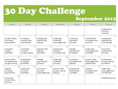 30-Day Exercise Challenge that I will do for the end of my 90 day challenge
