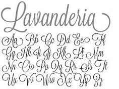 lavanderia font - my new tattoo will be in this font <3