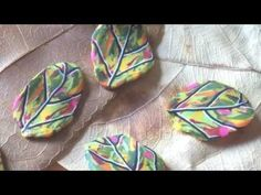 Video: great quick easy leaf cane from scrap clay.   #Polymer #Clay #Tutorials