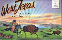 Vintage Souvenir Folding Postcard West Texas 1939 - $1.00 : Vintage Paper Collectibles Books and Magazines