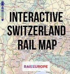 Need help planning your #train #travel through #Switzerland? Let Rail Europe's interactive railway map lead the way!