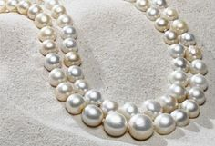 The Baroda natural pearls: two strands of 68 natural pearls each as big as a marble and considered to be the most beautiful in the world. Created in 1850s for the Maharaja of Baroda.  Est. at 7 to 9 million $.