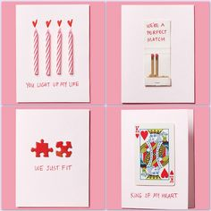 diychristmascrafts:  DIY Easy Valentine's Day Card Ideas from Real Simple.Photos: Levi Brown; Styling: Blake Ramsey.For more Valentine's Day or heart DIYs go here:truebluemeandyou.tumblr.com/tagged/hearts  truebluemeandyou: Totally sweet and safe but I have others coming up that are not so expected.