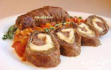 Мясные рулеты с баклажаном и адыгейским сыром | Кулинарные рецепты от «Едим дома!»