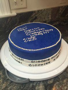 Computer programmer cake!! OMG love this idea for my boyfriend.