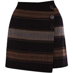 Karen Millen Blanket Stripe Skirt ($65) ❤ liked on Polyvore
